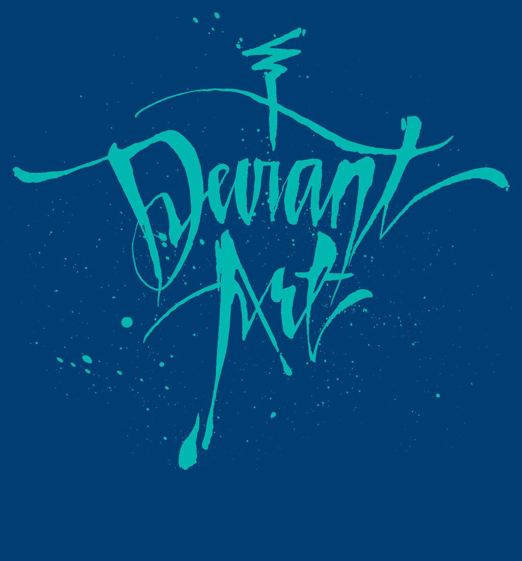 deviant Cursive T-Shirt - Blue by deviantARTGear