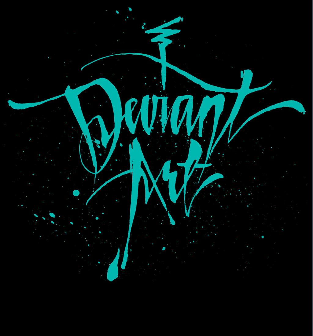 deviant Cursive T-Shirt - Black by deviantARTGear