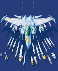 Art Not Bombs T-Shirt - Blue