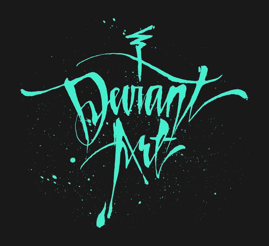 deviant Cursive Pullover Hoodie by DeviantArtGear