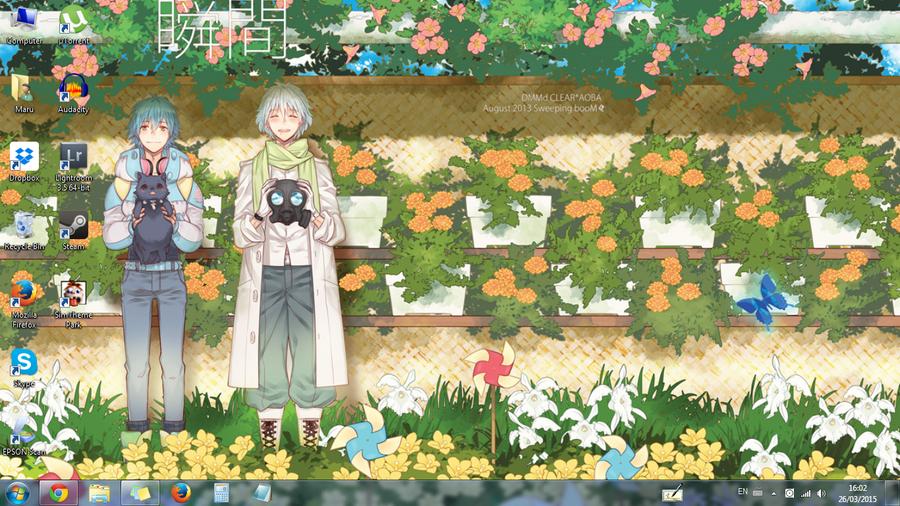 Clear x Aoba desktop by OsirisMaru