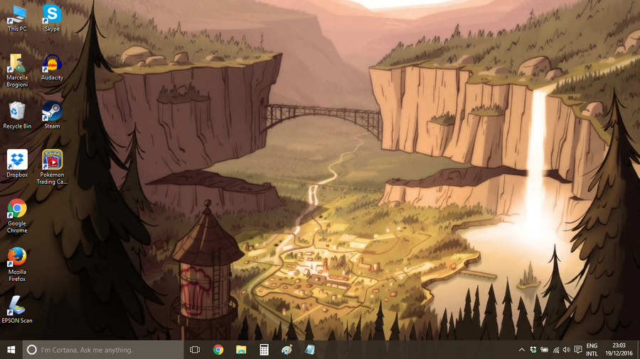 Gravity falls desktop by OsirisMaru