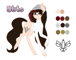 Blits (Ponysona) Reference 2.0 by BlitsAzalisDash