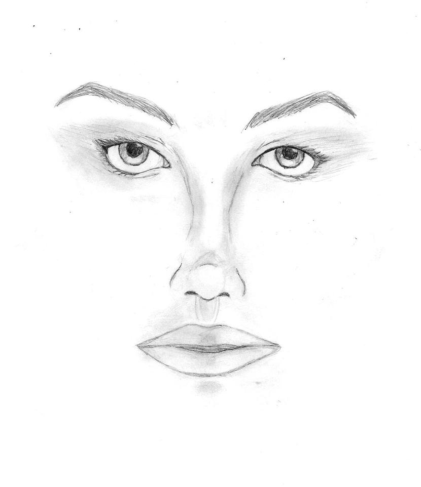 Quick Facial Sketch by Datas-Girl