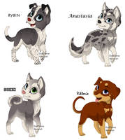 Puppy Point Adoptables by NyamburaDawn