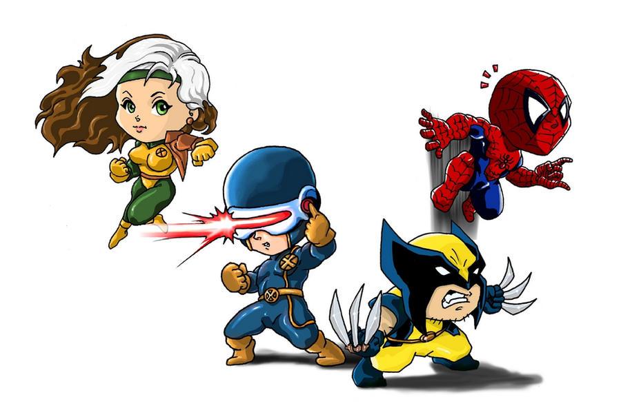 Chibi Marvel Heroes Part 1 by Choppic on DeviantArt X Babies Nightcrawler