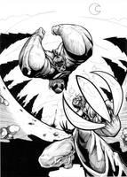 Hulk vs Wolverine by Choppic