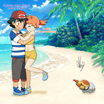 Ash and Misty in Alola