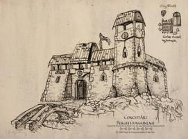 Castle Drawing Concept Art