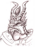lizard warrior by ArthusokD