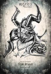 Risen3 Art Ursegor Black Pencil by ArthusokD