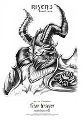 Risen3 Fanart Ursegor Pencil by ArthusokD