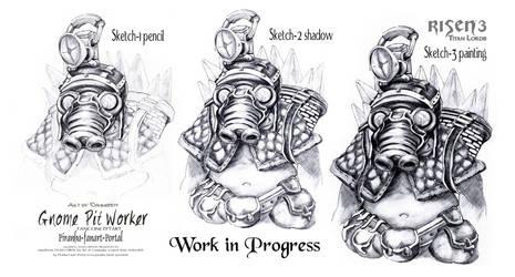 Risen3 Gnome Pitworker Workflow