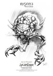 Risen3 Spiderqueen Sketch Poster by ArthusokD