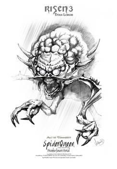 Risen3 Spiderqueen Sketch Poster