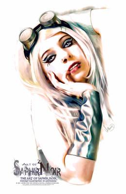 SaphirNoir Paint Steampunk PortraitArt