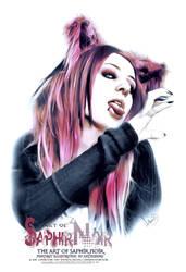 SaphirNoir Paint GothCats PortraitArt by ArthusokD