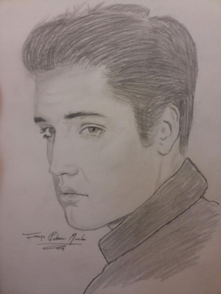 Elvis Presley - Traditional art by Joseneitor77