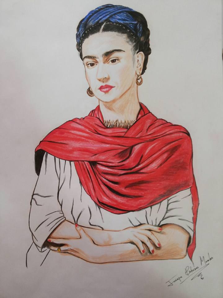 Frida kahlo - Traditional art by Joseneitor77