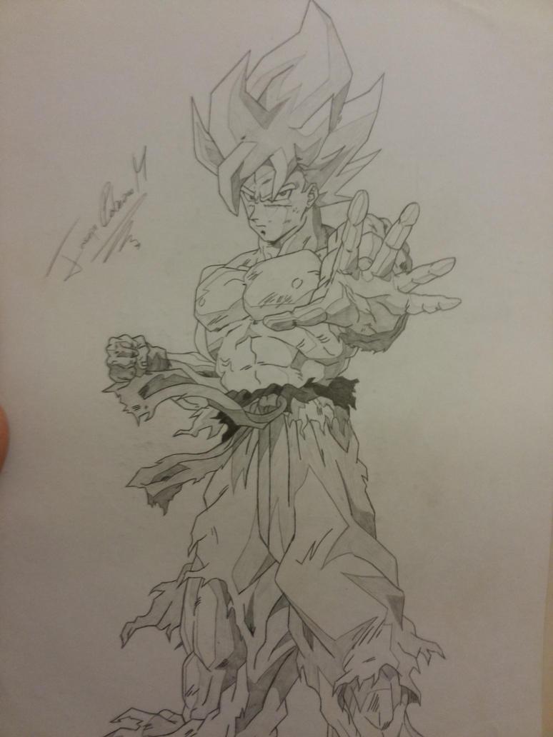 Goku SSJ - Traditional Art by Joseneitor77
