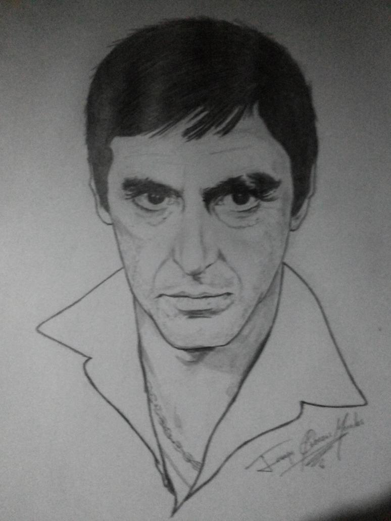 Scarface Tony Montana (Al Pacino)- Traditional Art by Joseneitor77