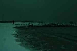 Snowy beach walk by K-L-R