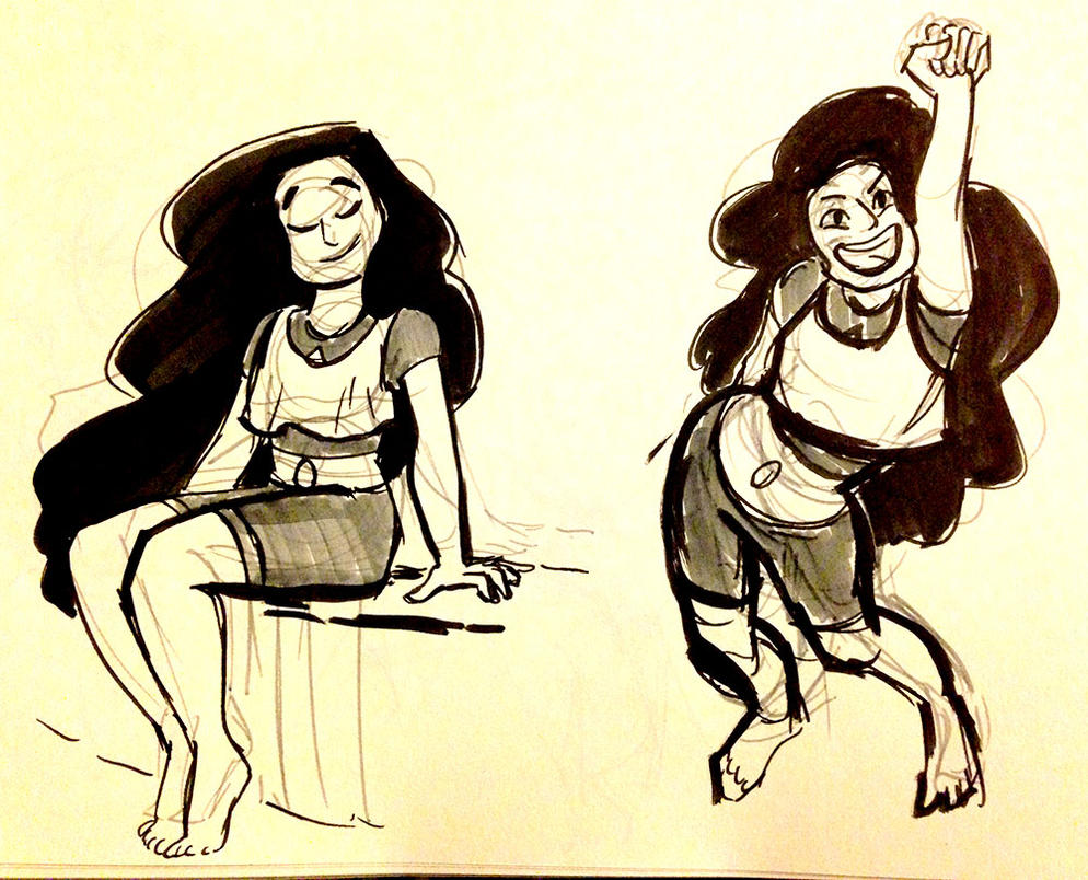 sketched some Stevonnies a few weeks ago!