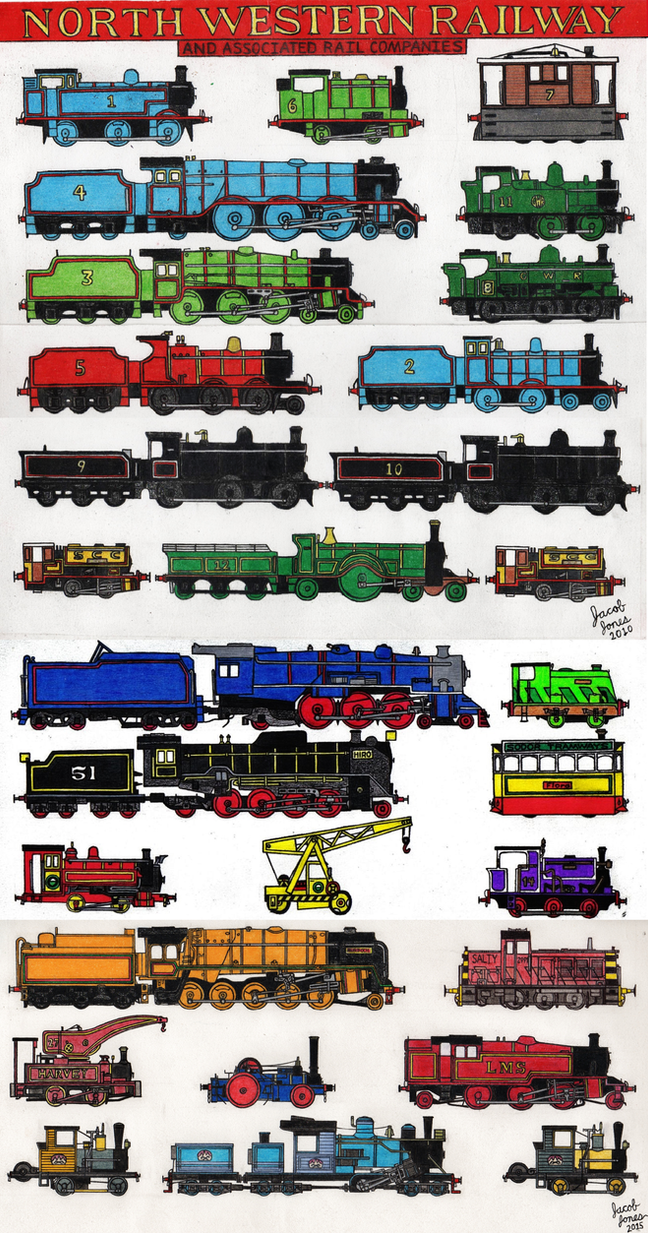 North Western Railway Engines Parts I And Ii By Thecaptainofderp On Deviantart