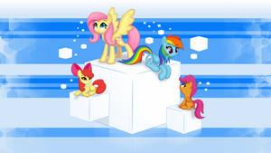 Ponies on Cubes wallpaper [4K]