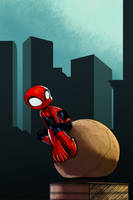 Spider-man about town by KidGalactus