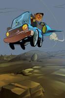 Now we swoop in color! by KidGalactus