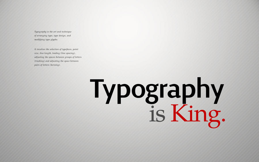 Typography is King