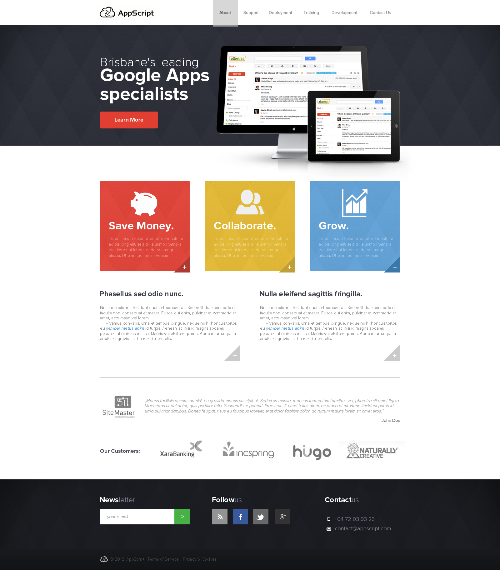 AppScript - Cloud Services company by Bob-Project
