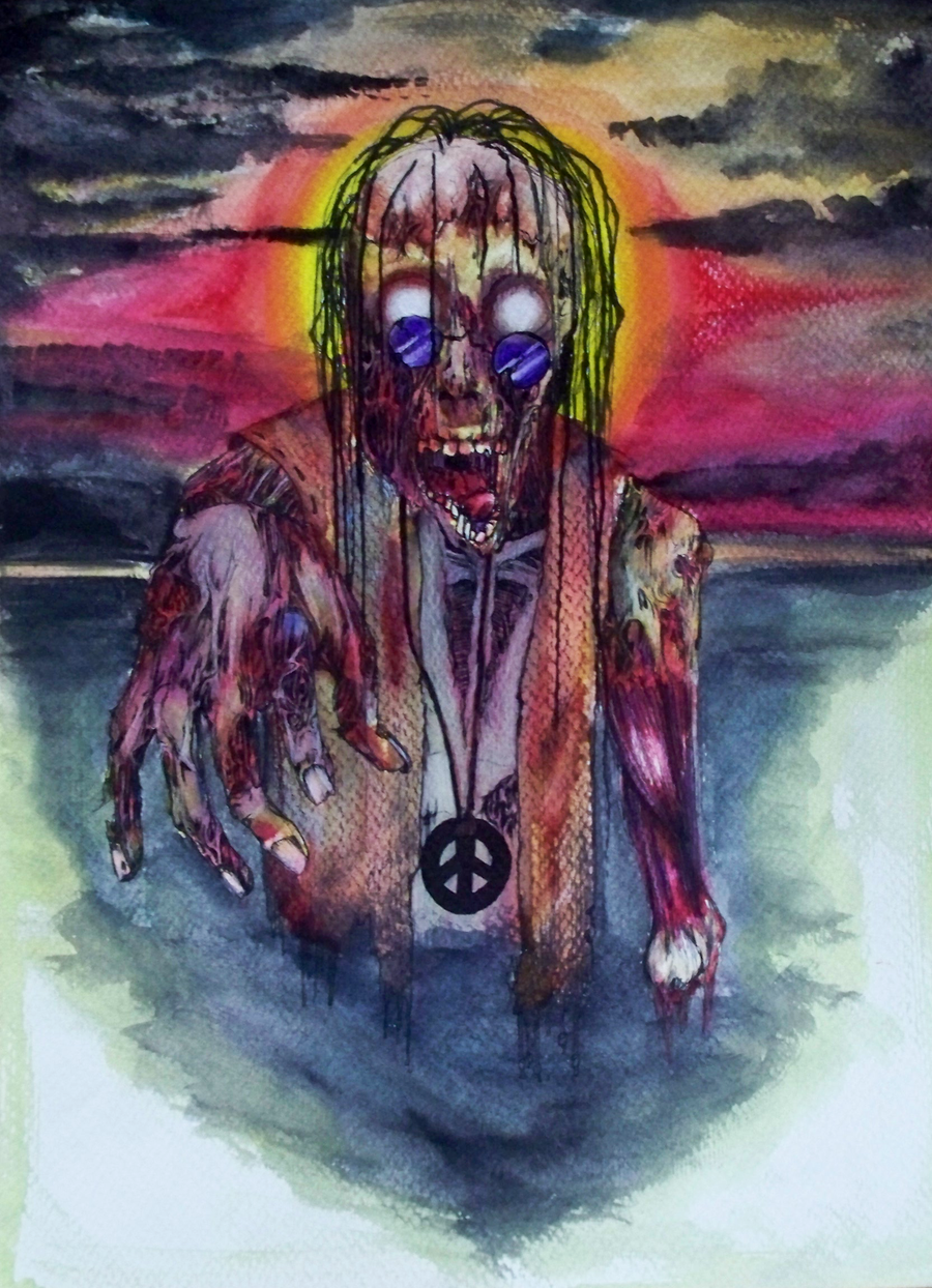 zombie hippie colored by harlequin ink on deviantart