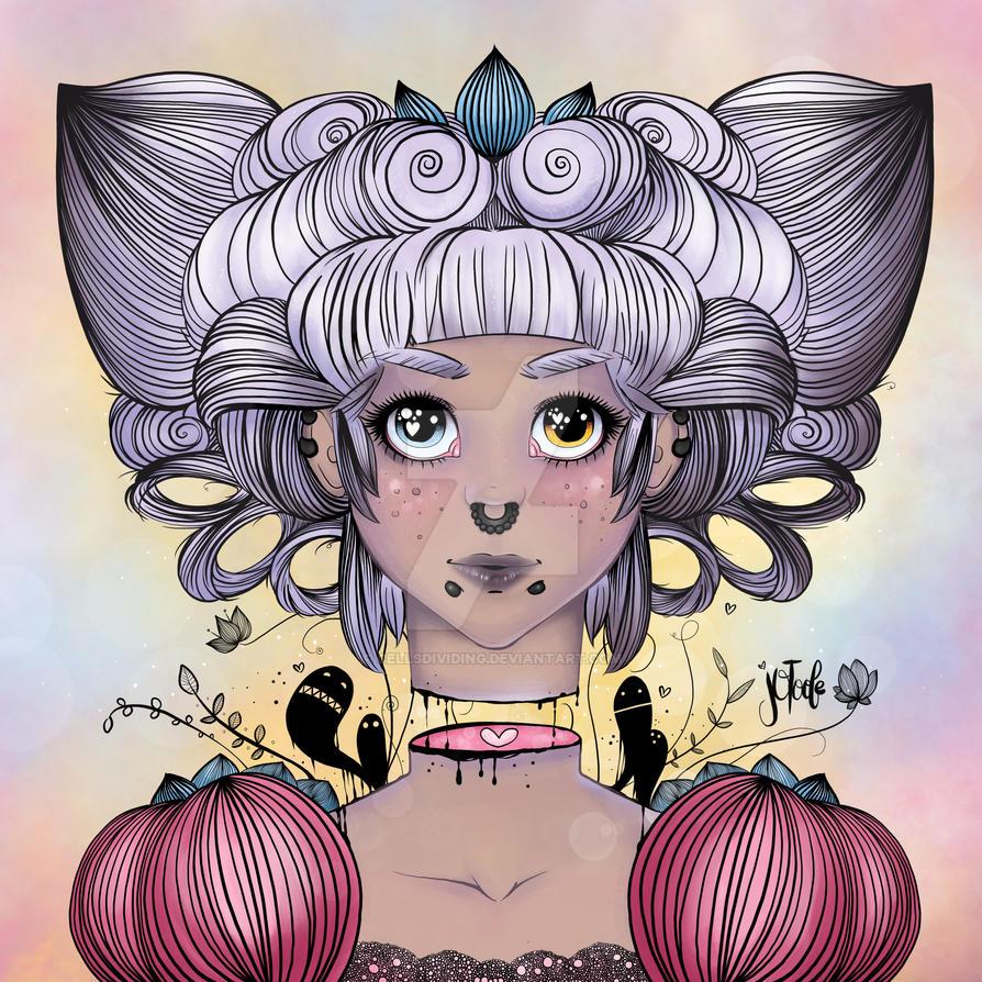 Beheaded Princess, iPad Art, Procreate App by cellsdividing