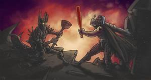 Sauron vs Darth Vader by Devolist