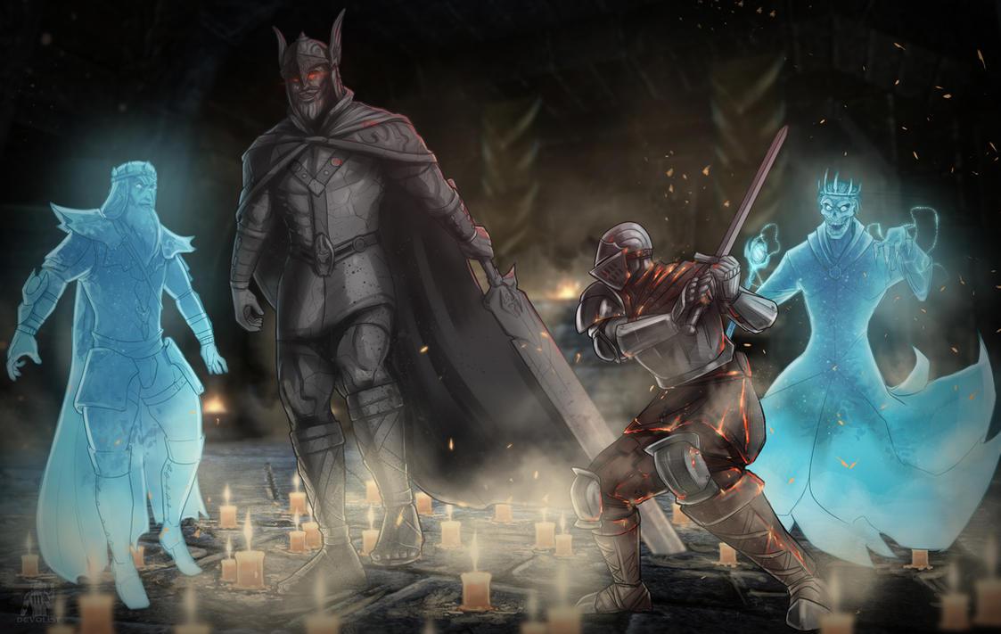 Talos vs Ashen One by Devolist