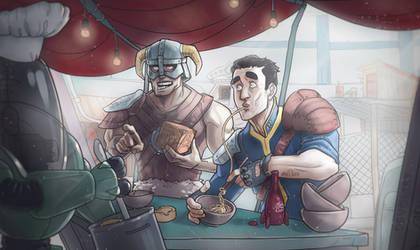 Fallout 4 x Skyrim by Devolist