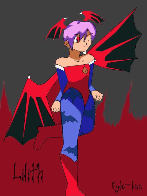 Dark stalkers Lilith by Depressed Sandra