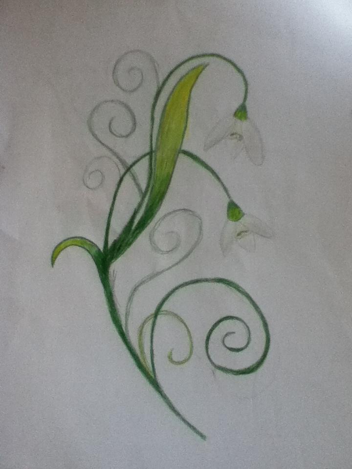 mum 39 s snowdrops tattoo design by deborah derp on deviantart