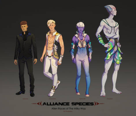 Alien Races - The Species of Alliance