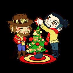 Chibi Christmas by BAKAFOOLS