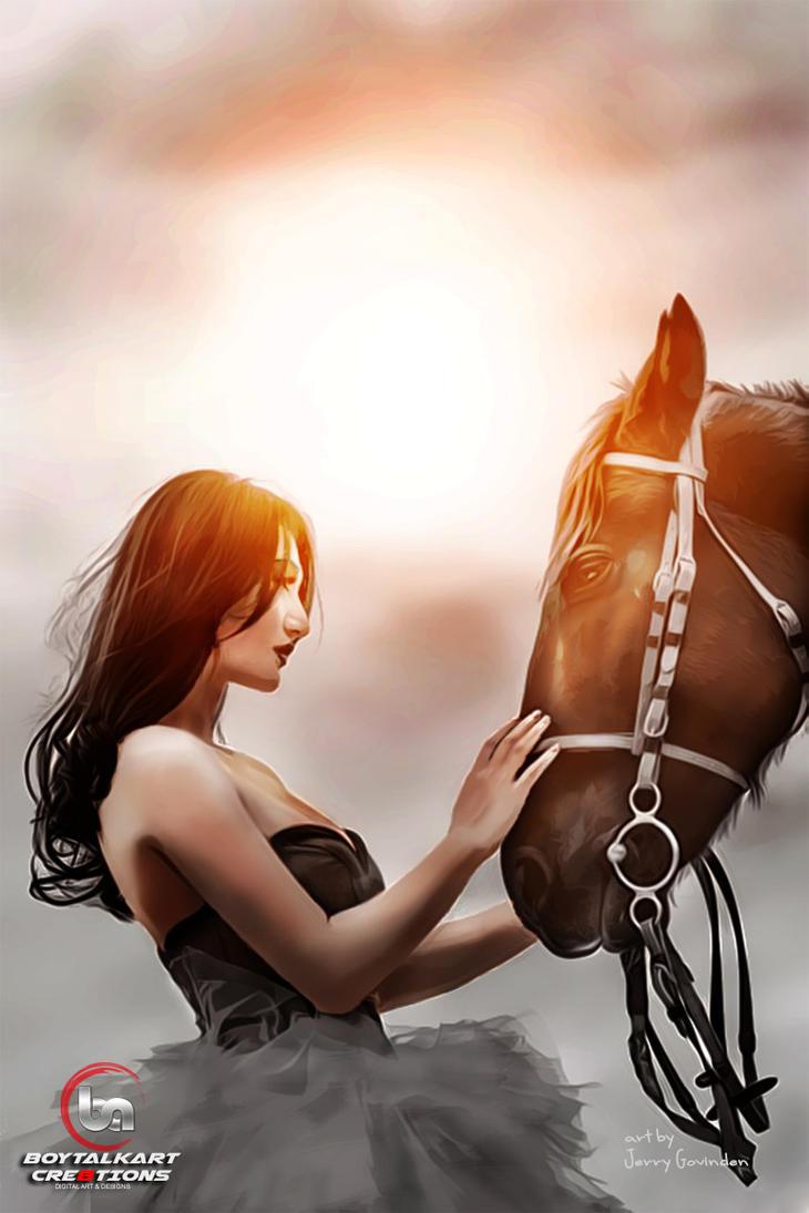 Horse-whisperer by Boytalkart