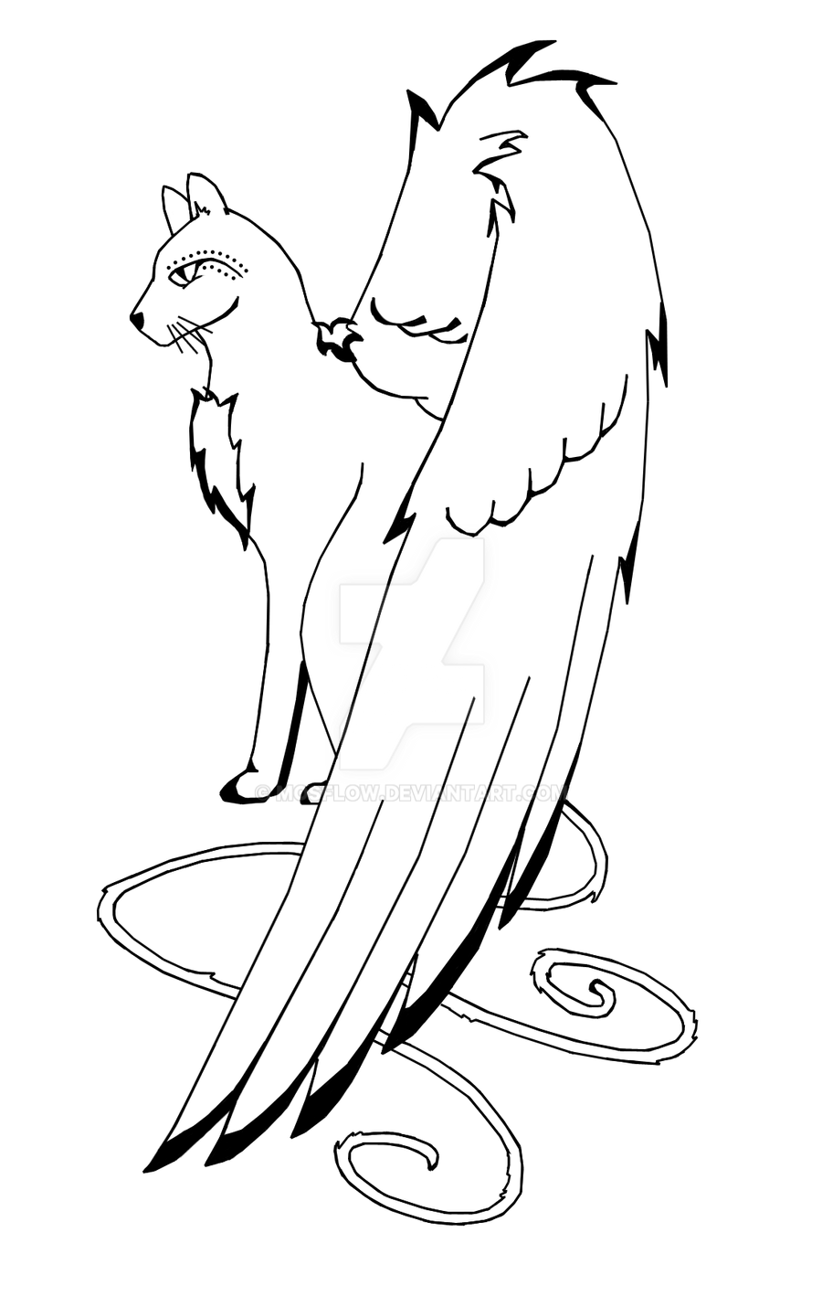 It's just a graphic of Impeccable Cat With Wings Coloring Pages