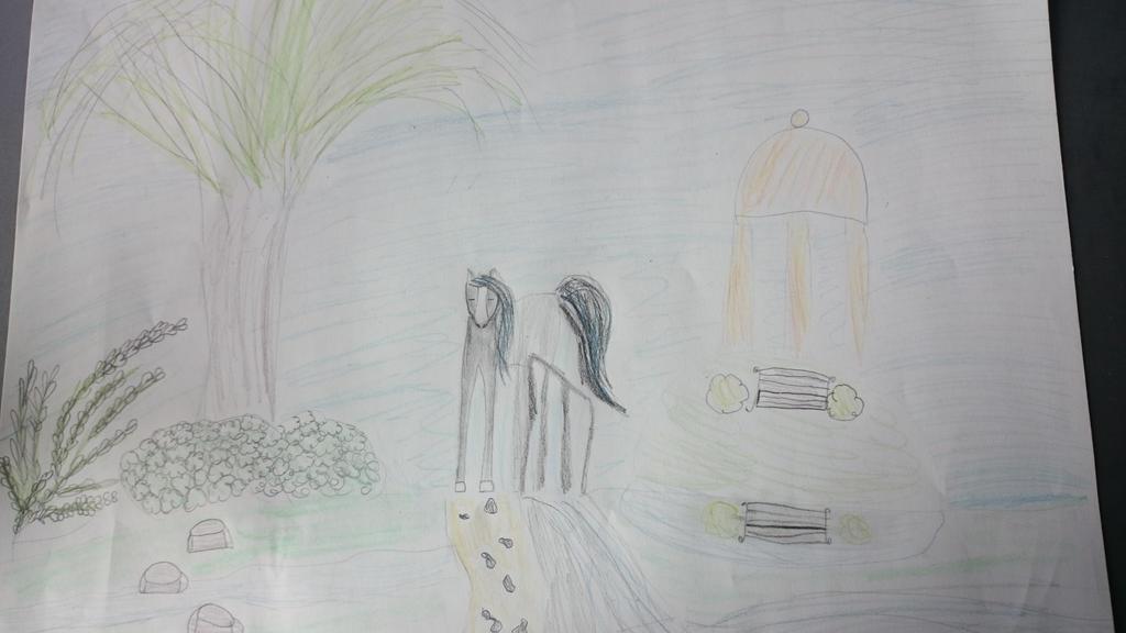 My 10 y/o Sister drawing. by Kornelga