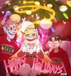 Happy Holidays 2018 (W/ Speedpaint) by Jess-the-vampire
