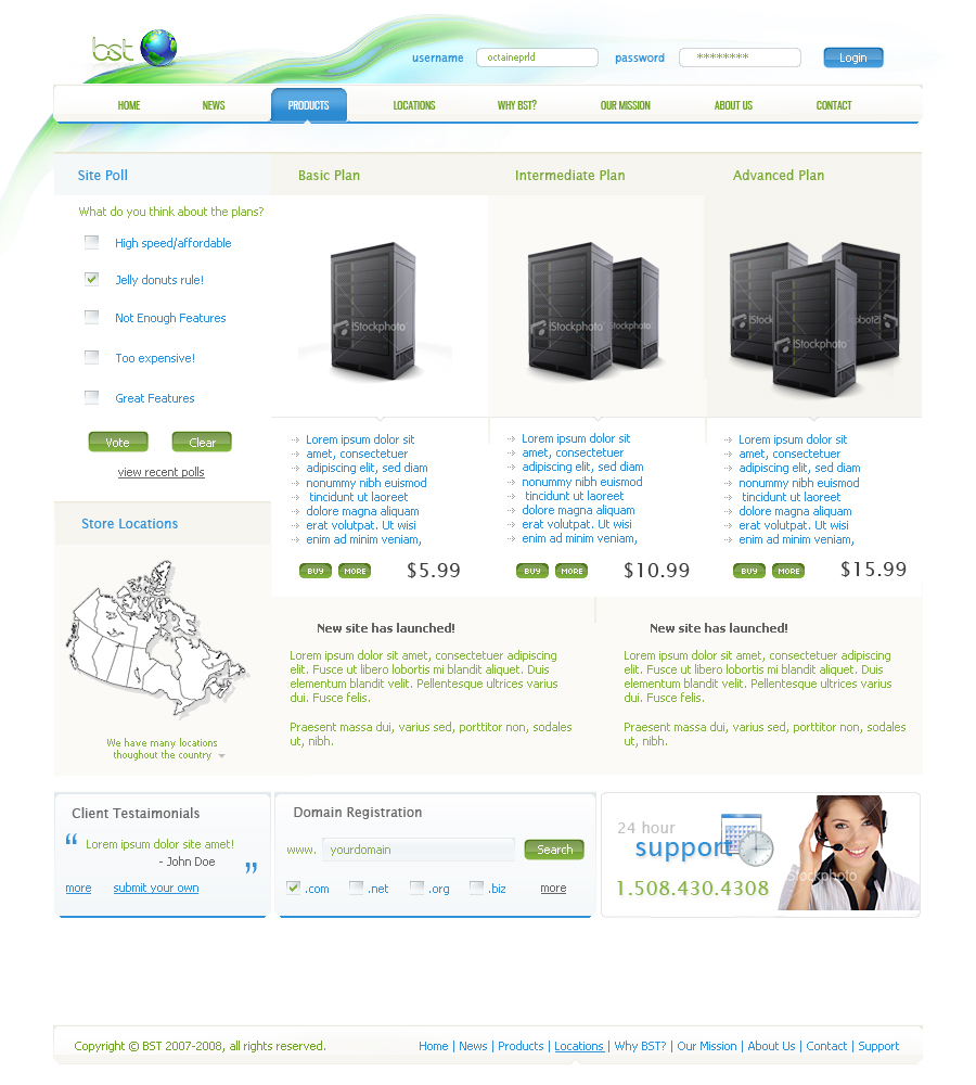 BST Web Hosting by prld