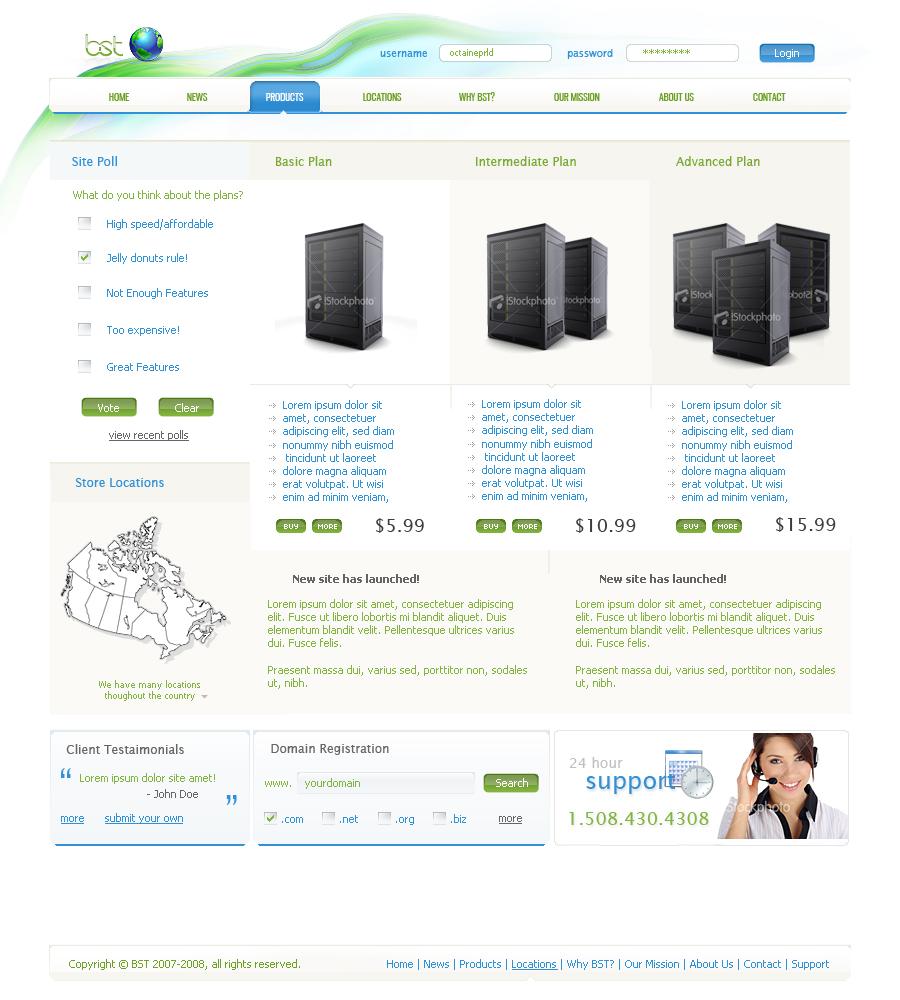 BST Web Hosting by prld