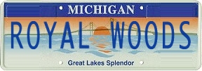 michigan royal woods license plate
