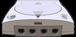 Sega Dreamcast Console Vector